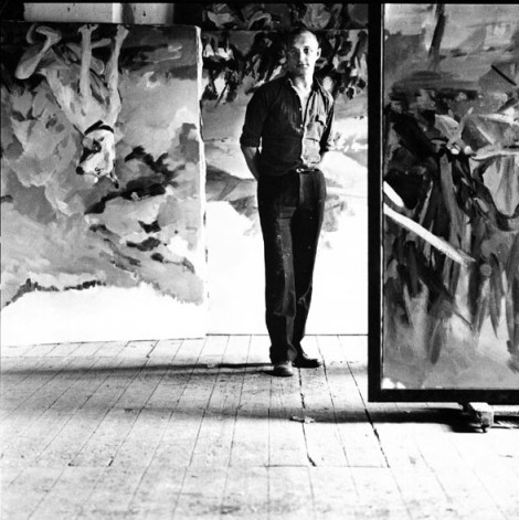 Lothar Wolleh_Georg Baselitz in his Mülheim studio_1971